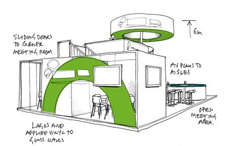Booth Design Sketch | exhibition sketch google search exhibition sketch