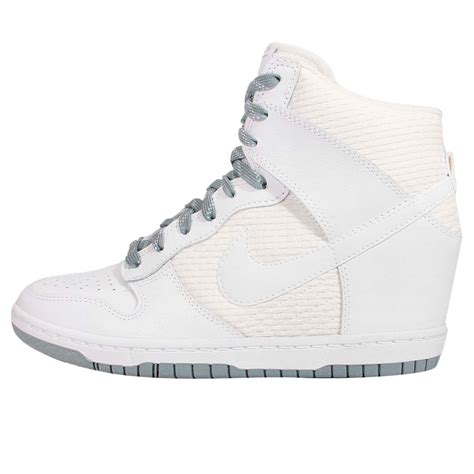 white wedge sneakers wmns nike dunk sky hi essential white grey womens wedge