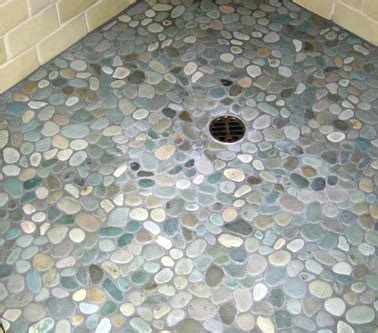 River Rock Shower Floor Problems by Rolling With Stones Eye On Design By Dan Gregory