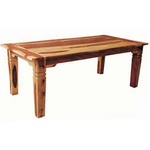 tahoe natural wood dining table chunky wood furniture at the galleria