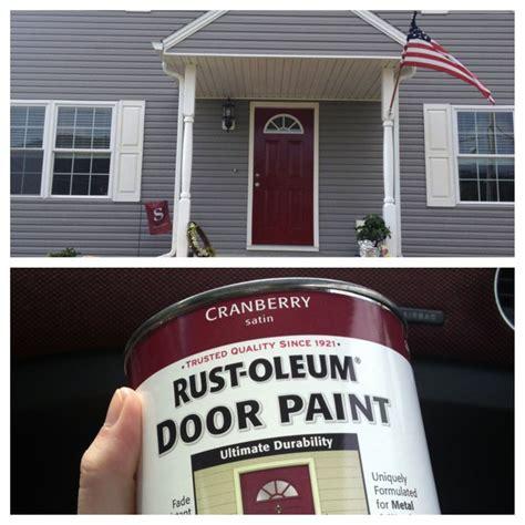 always wanted a front door paint is from lowes rust oleum cranberry satin door paint