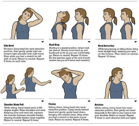 what are some exercises for the neck and and what is a sitting posture while
