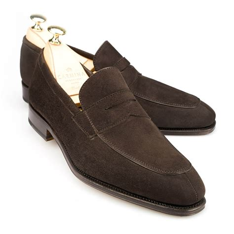 loafers image loafers in brown suede carmina