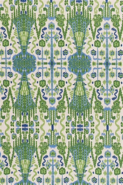 15 green blue ikat home decor fabric designer by
