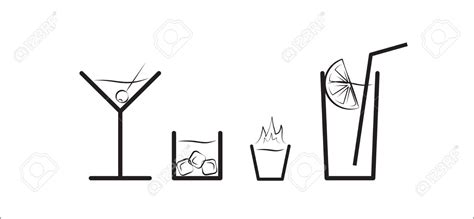 cocktail clipart black and white cocktail clipart pencil and in color