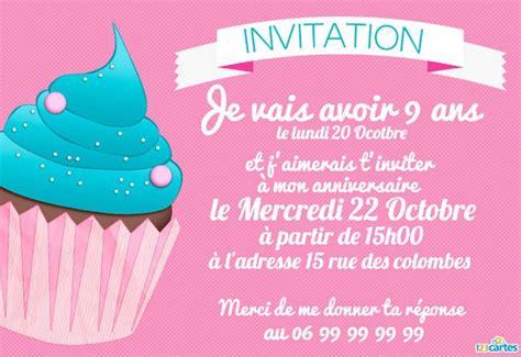 Modele Invitation Anniversaire
