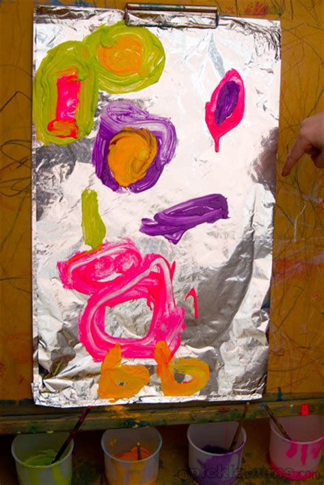 painting for preschoolers easy for painting on foil picklebums