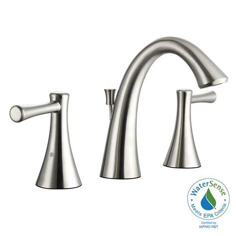 Glacier Bay Brushed Nickel Kitchen Faucet by Glacier Bay Venue 8 In Widespread 2 Handle High Arc