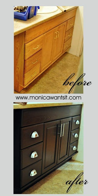 How To Stain Laminate Cabinets by Staining Oak Cabinets An Espresso Finish Faq S Stains