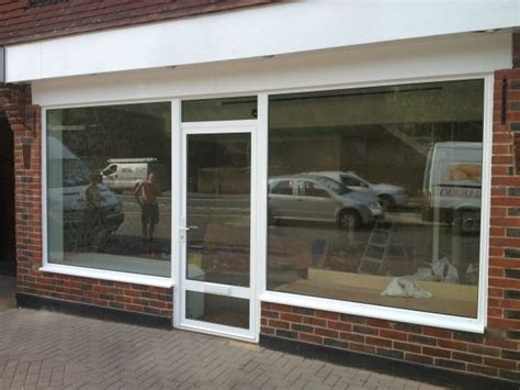 glass shop door aluminium windows glazing dorking glass surrey