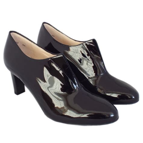 Patent Pumps kaiser uk hanara black patent high top pumps