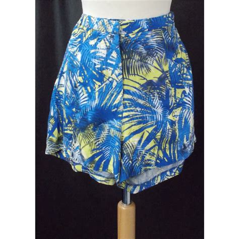 dorothy perkins size 8 blue yellow mix shorts oxfam gb oxfam s shop