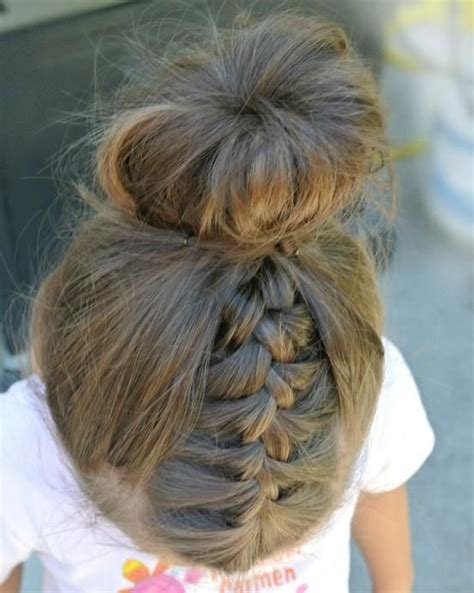 cute hairstyles in a bun 40 cool hairstyles for little girls on any occasion bun