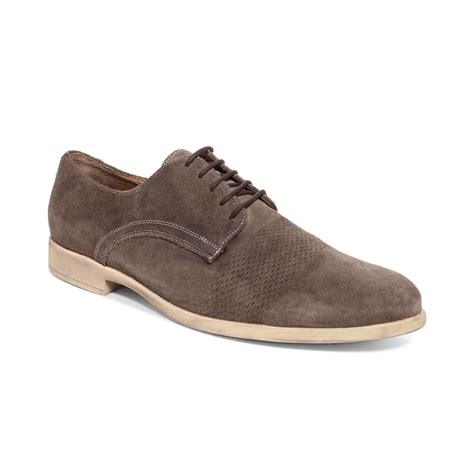 geox oxford shoes geox journey solid suede oxfords in beige for