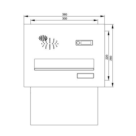 Briefkasten Einbau Mauer by Cenator 174 Mauerdurchwurf Briefkasten Mit Funktionskasten