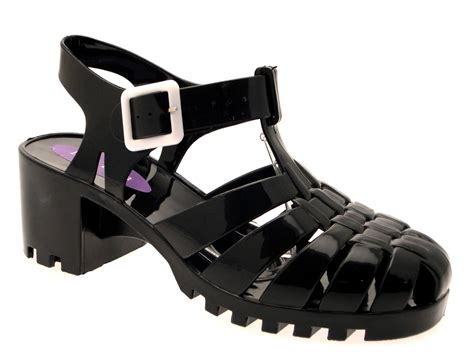 8 Advantages Of Flat Shoes Heels by Womens Heel Jelly Cut Out Sandals Flat Jellies