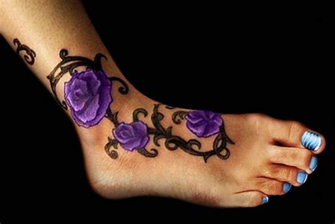 violet rose tattoo violet roses