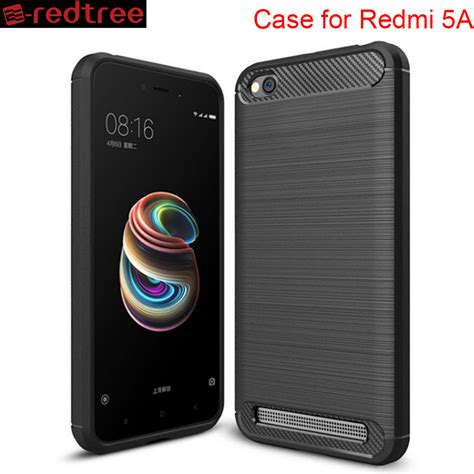 Xiaomi Redmi 4a Softcase Carbon Fiber redtree luxury soft cases for xiaomi redmi 5a cover tpu carbon fiber smartphone for