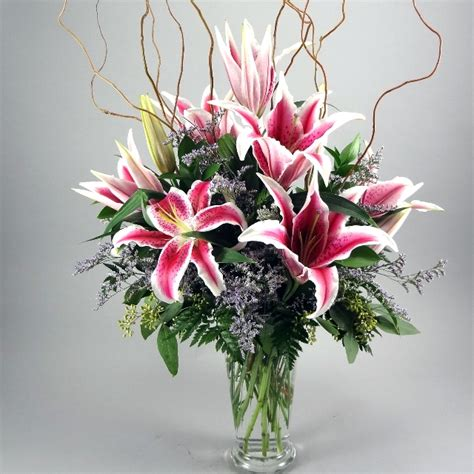 Lilies In A Vase by Vase Sy 15 Magic City Floral
