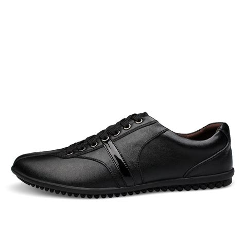 mens genuine leather casual business shoes mens flats