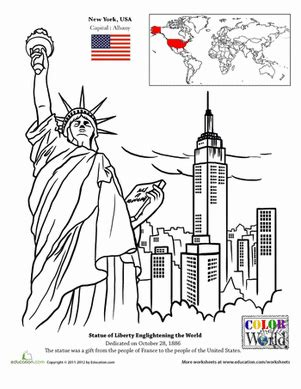 coloring pages of places around the world new york city worksheet education com