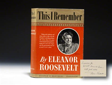 remember books eleanor roosevelt this i remember signed bauman