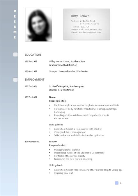 Sample Resume For All Types Of Jobs by Best Cv Formats Pakteacher 3 Pak Teacher Jobs Updates