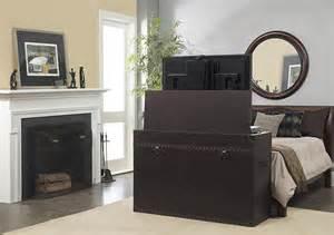 ellis trunk end of bed or living area motorized tv lift