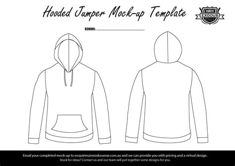 design an exodus hoodie or jacket for your dance school download one of our design templates to start designing