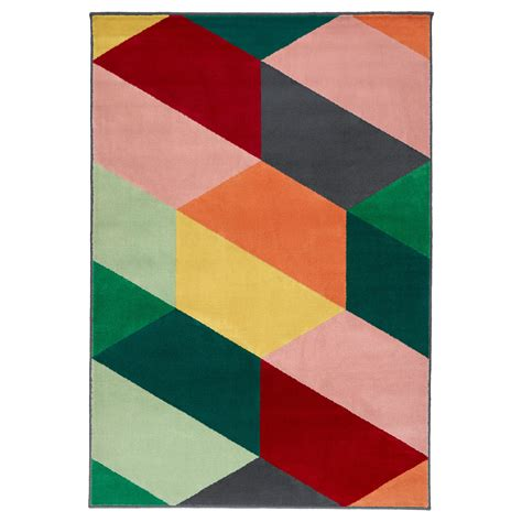 ikea rungs pandrup rug low pile multicolour 133x195 cm ikea