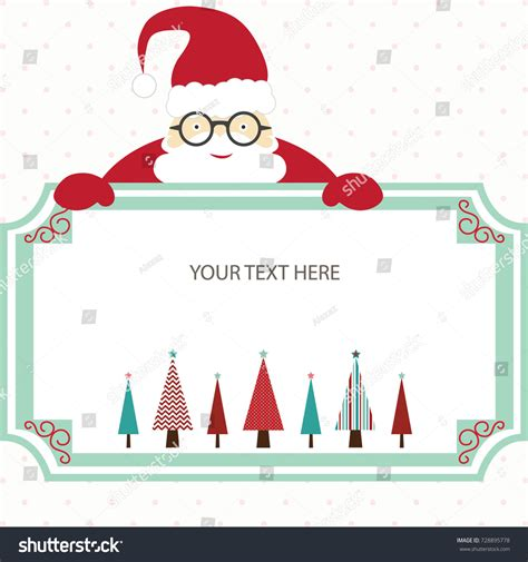 card from santa template merry card santa treechristmas stock
