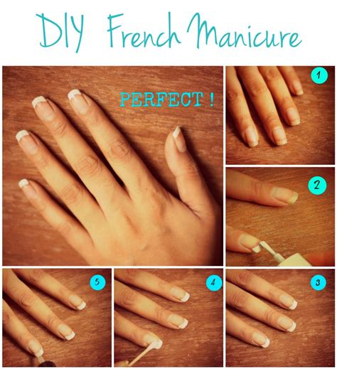 how to decorate nails at home d i y french manicure style inked