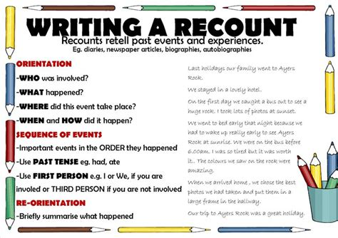Personal Recount Essay Structure by Recount Writing School Teaching Recount Writing And Student Centered Resources