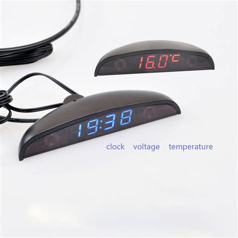 Voltmeter Digital Luminos Waterproof aliexpress buy led automotive car electronic clocks watches thermometer voltmeter