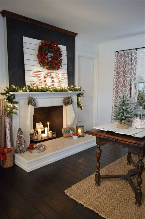 country christmas mantel decorating ideas cottage home tour with country living fox hollow cottage