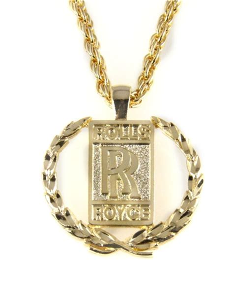 Gold Phantom Necklace 6030472 rolls royce necklace bling polished gold tone bentley phantom ghost w the witness