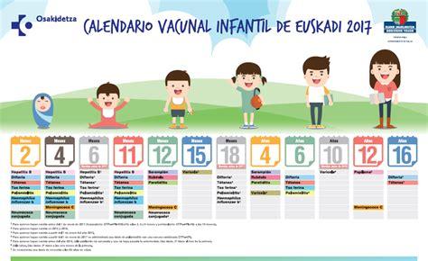 Calendario Vacunacion 2017 Calendario De Vacunaci 243 N Infantil Para Beb 233 S Nacidos 2017
