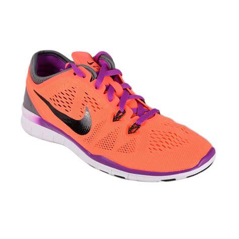 Sepatu Fitnes Wanita Fit 5 Jingga jual nike wmns free 5 0 tr fit 5 704674 801 sepatu olahraga wanita harga kualitas