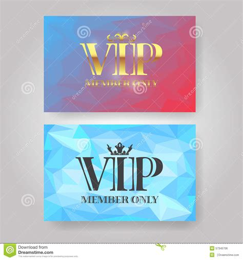 member card design template vip member card design template stock vector image 57345706