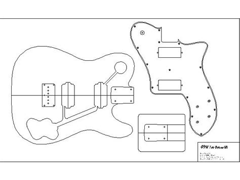guitar design template guide to get telecaster guitar neck plans simple wood