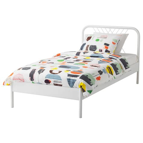 leirvik bed frame hack bedding at ikea black and white arya duvet bed set we are