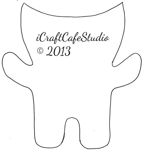template monter icraftcaf 233 studio felt monsters
