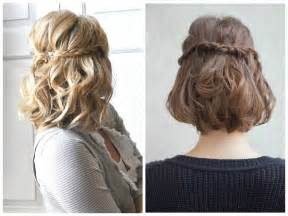 half up hairstyle for short hair images
