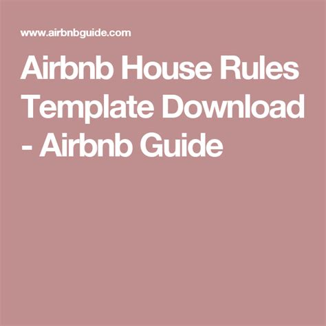 airbnb rules airbnb house rules template download airbnb guide