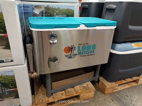 Bahama Patio Cooler Bahama Stainless Steel Rolling Cooler