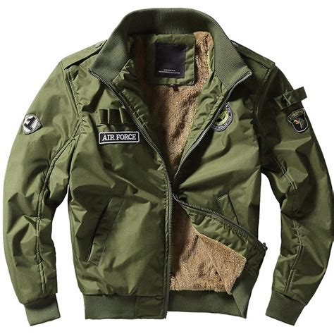 Outer Parka Army new 2017 winter thick bomber jackets army outerwear jacket mens cotton air