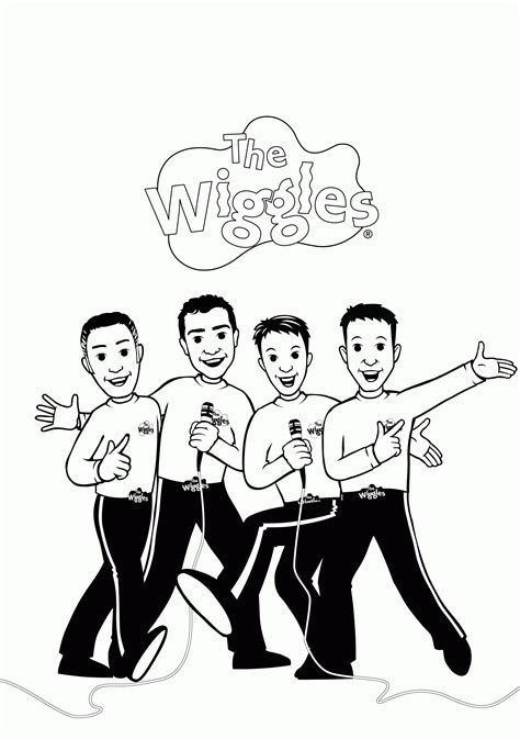 Wiggles Color Pages Coloring Home The Wiggles Colouring Pages