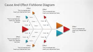 flat fishbone diagram for powerpoint slidemodel