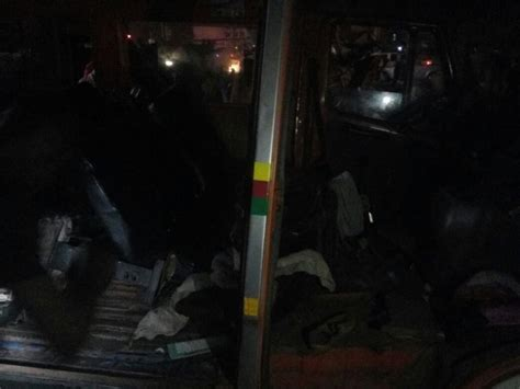 car accidents caused by traffic lights 7 injured in multiple car crash at okponglo traffic light