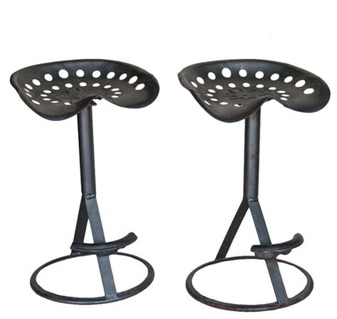 Tractor Bar Stools by Pair Vintage Tractor Bar Stools Traditional Bar Stools